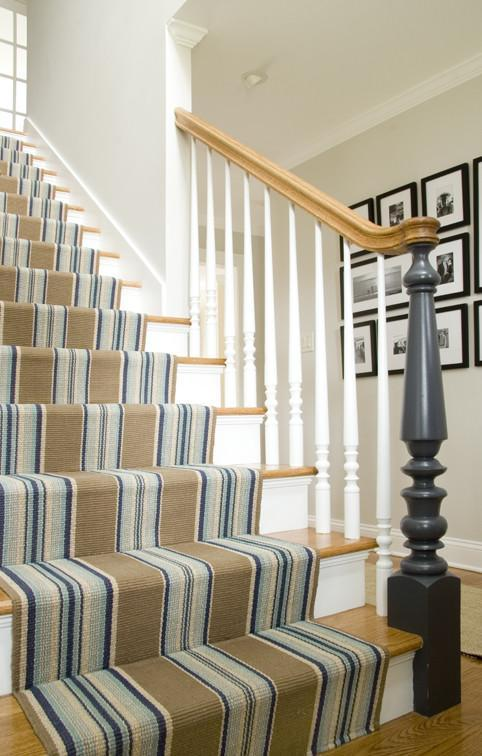 Stair runners - in vertical striped pattern