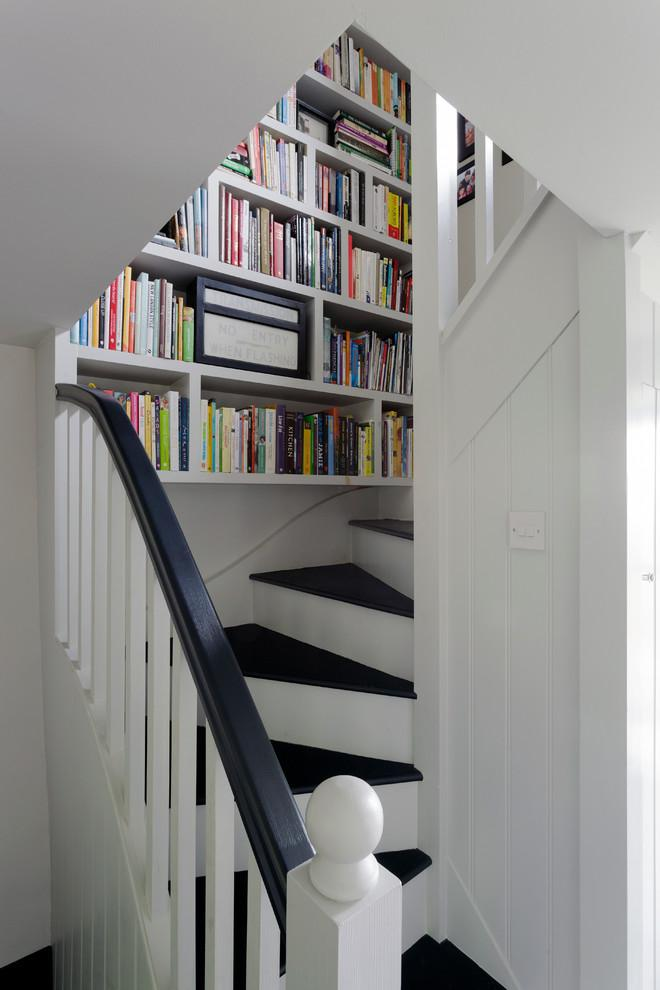 Staircase bookcase - the best place to store books