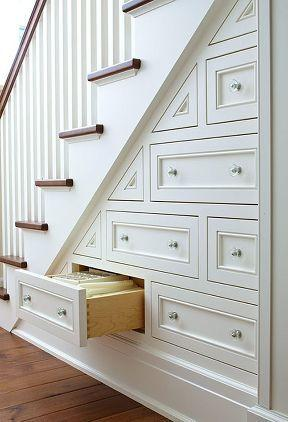 Staircase drawers - in the space beneath the stairs
