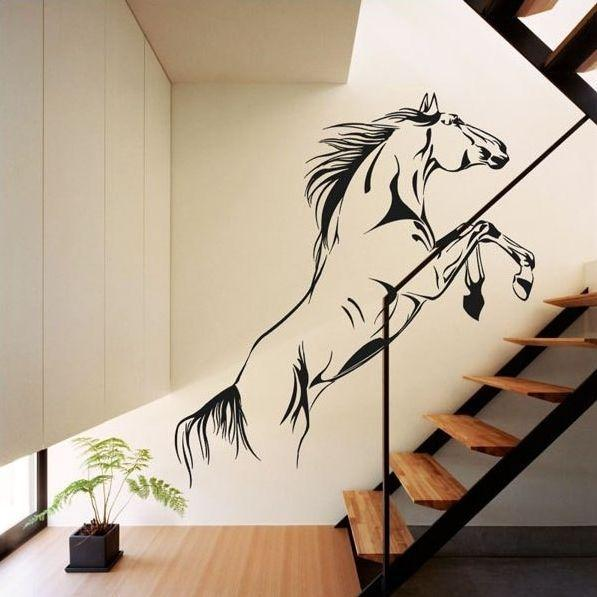 Staircase horse decal - used at the wall