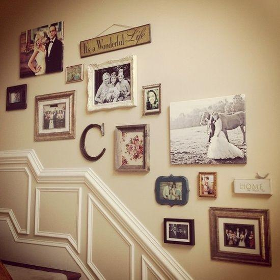 Staircase with images - of old family photos