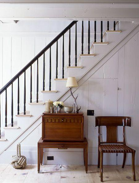 Staircase with vintage items - placed beneath it