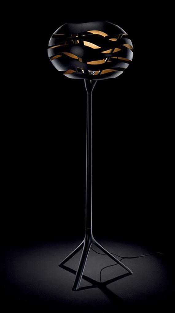 Stylish black lamp - with modern shade