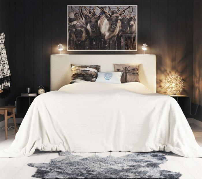 Stylish eclectic bedroom - with comfortable bed setting