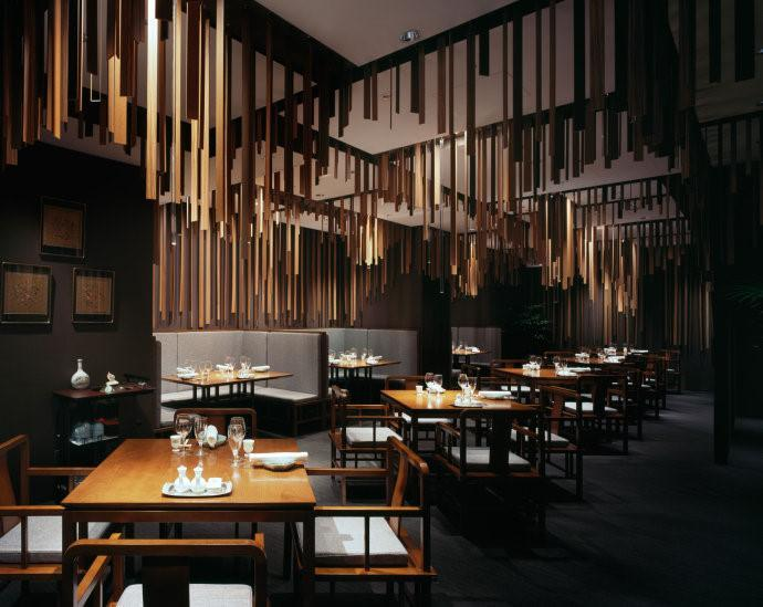 Stylish Modern Restaurant With Dark Interior Founterior