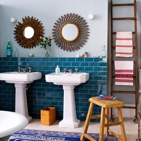 Stylish modern tile design - separated on two levels