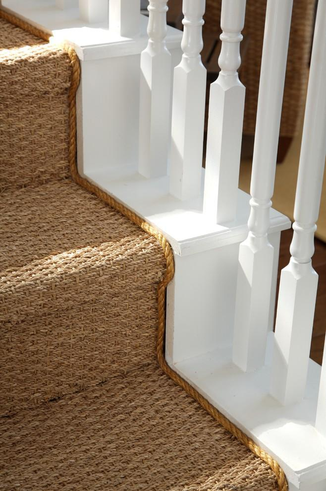Thick stair runners - inside a luxurious houe