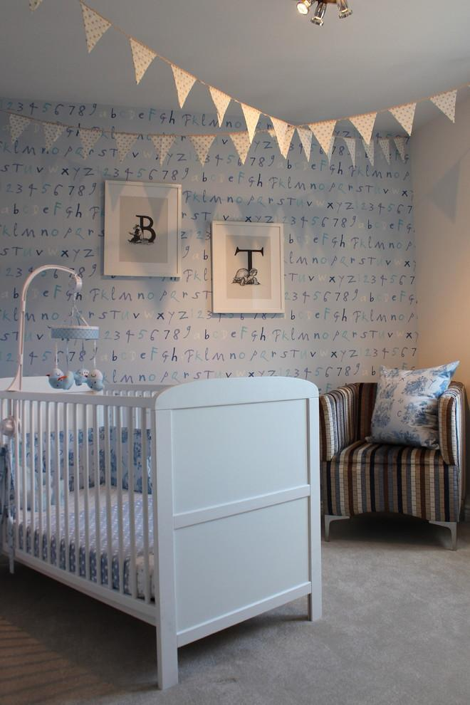 Traditional baby decor - paper garlands and wall art