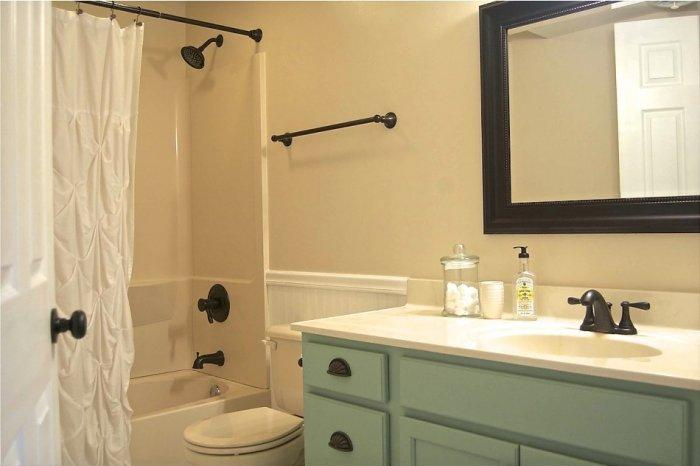 Traditional bathroom mirror - with wood frame