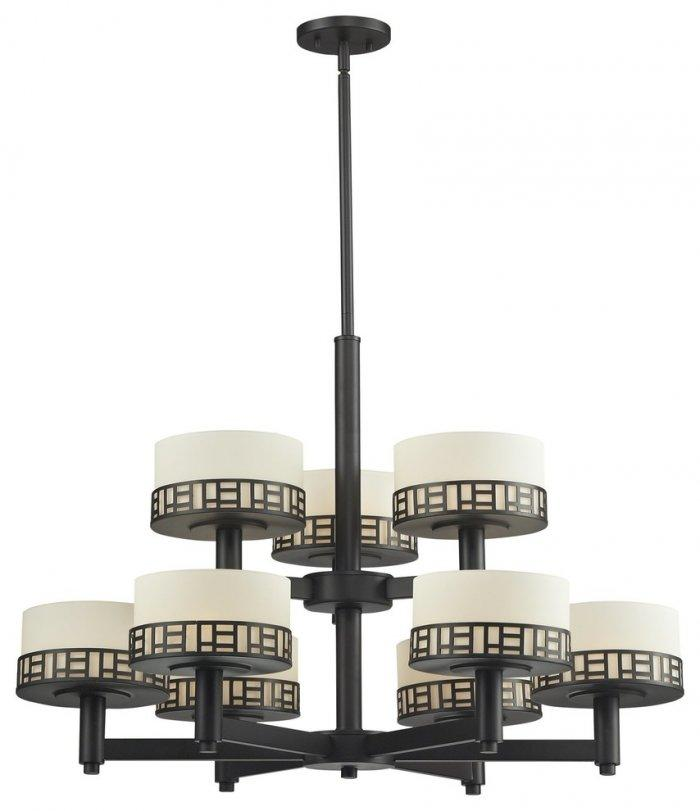 Traditional black chandelier - with greek ornaments