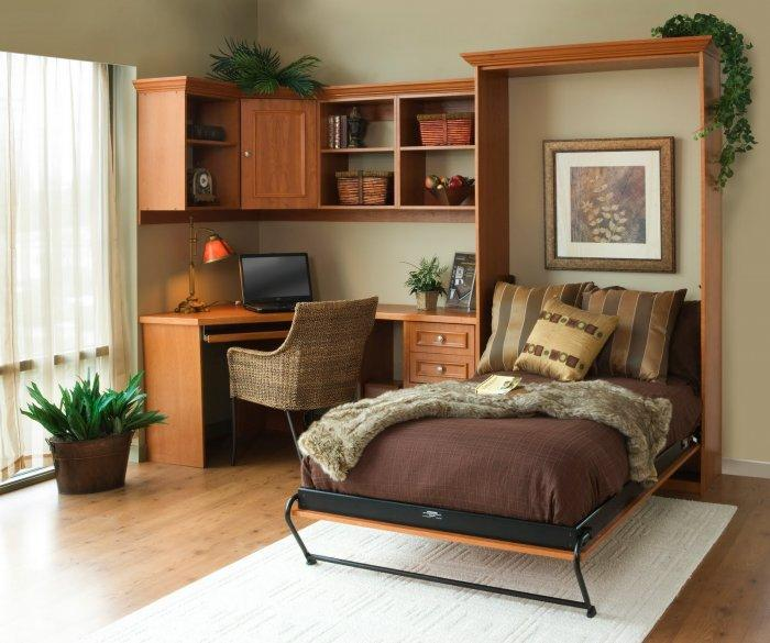 Traditional murphy bed - folding out of the wall