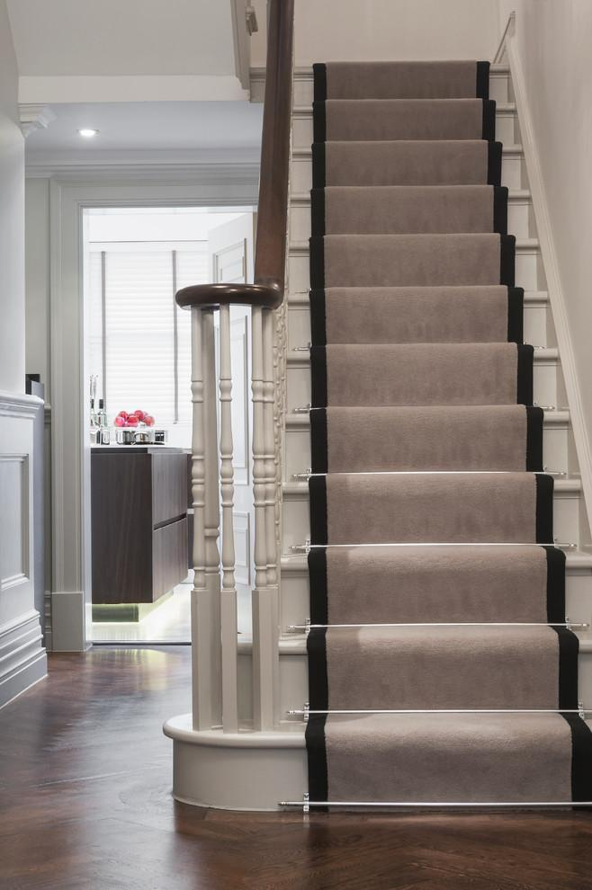Traditional stair runners - in neutral colors
