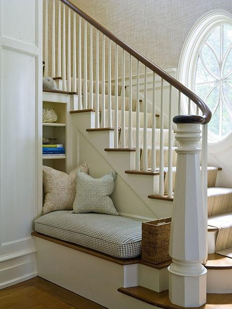 Traditional staircase - with small ottoman bellow
