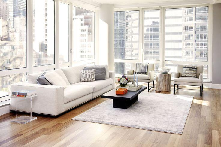 Urban loft living room - with modern and stylish sitting furniture