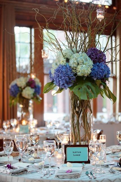 Vase table centerpiece - with inspiring flowers