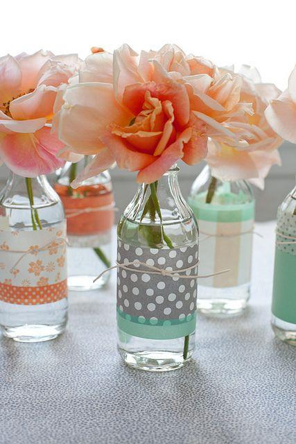 Vases made of bottles - creative interior solutions