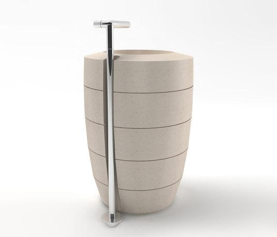 White contemporary sink design - with tower shape