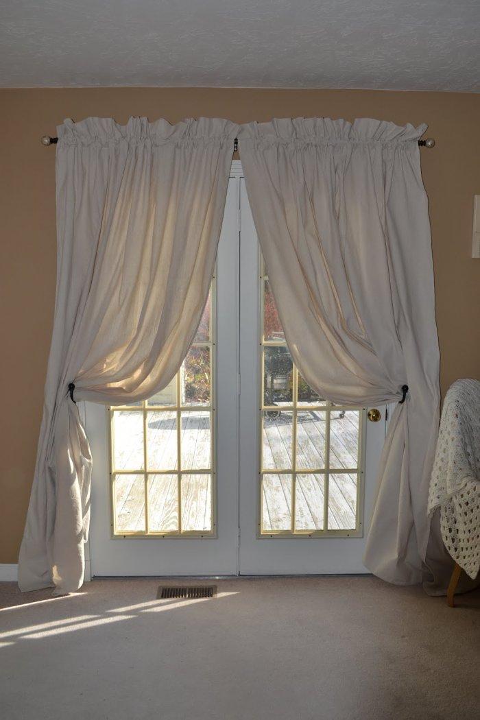 White curtains - inside an European apartment