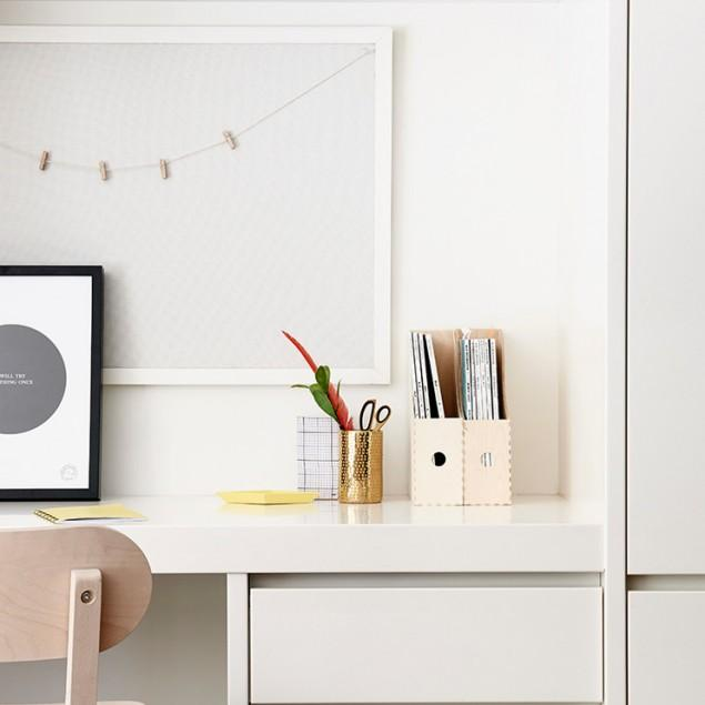 Computer Desk - Corner, Small, Glass, White and Black