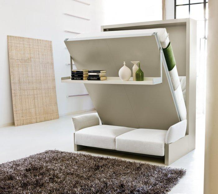White wall bed - with flexible mechanism