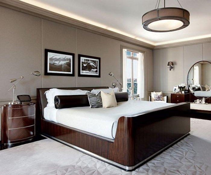 Wooden luxurious bed - with massive wood frame