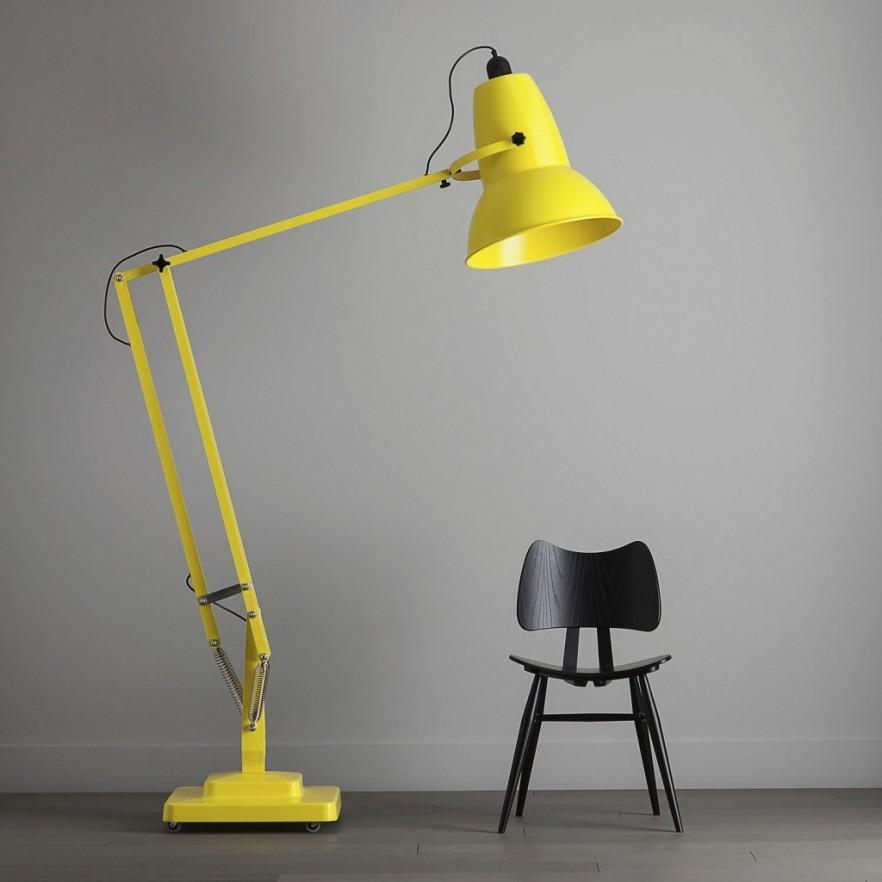 Modern And Contemporary Home Lighting Fixtures Yellow Floor Lamp With Design