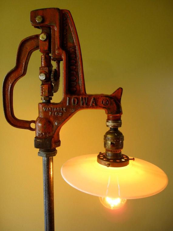 American vintage floor lamp - looking like a water tap