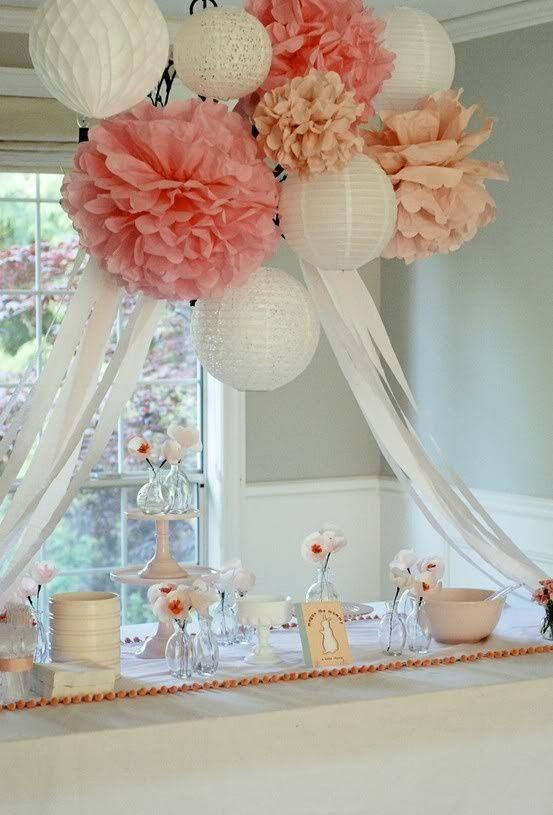 Baby shower setting - for a traditional party