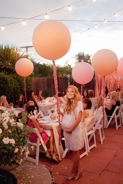 Big outdoor balloons - for baby shower party