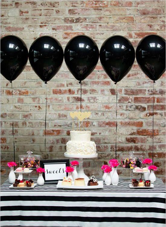 Black decorative ballons - for a baby shower party