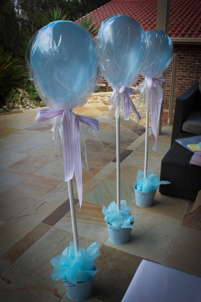 Blue balloons - for baby shower party
