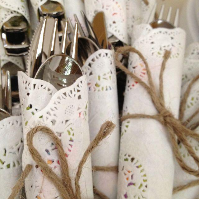 Cheap handmade napkins - for a bridal shower