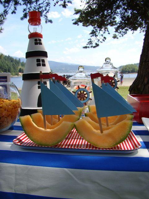 Creative boats with sails - for boy shower party