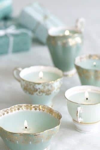 DIY candleholders - for a baby shower