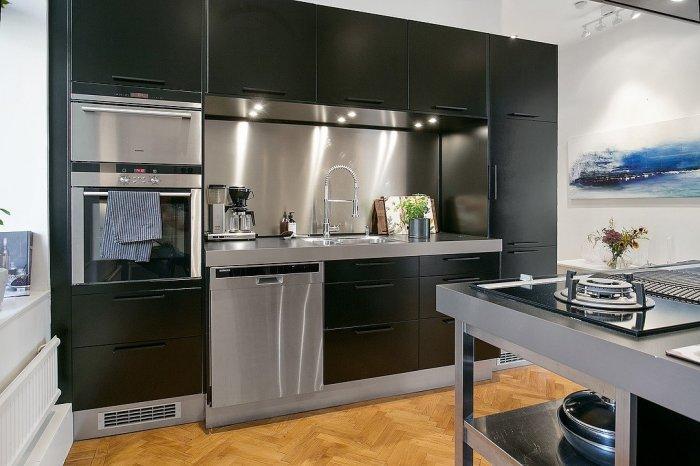 Dark Scandinavian kitchen - with modern design