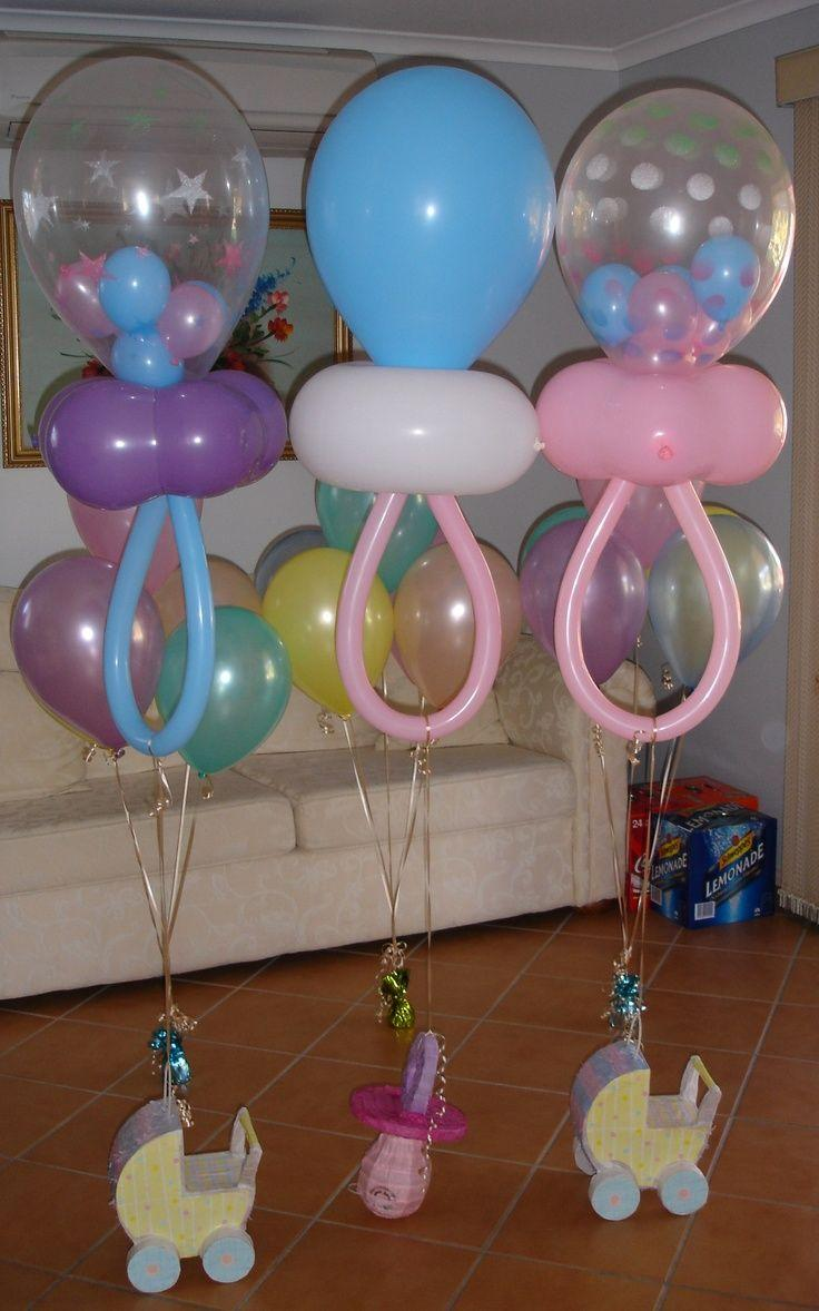 Feeding-bottle balloons - for baby shower party