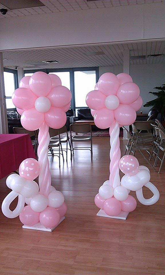 Flowers made of balloons - for baby shower party