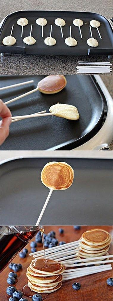 Lolipop pancakes - for baby shower