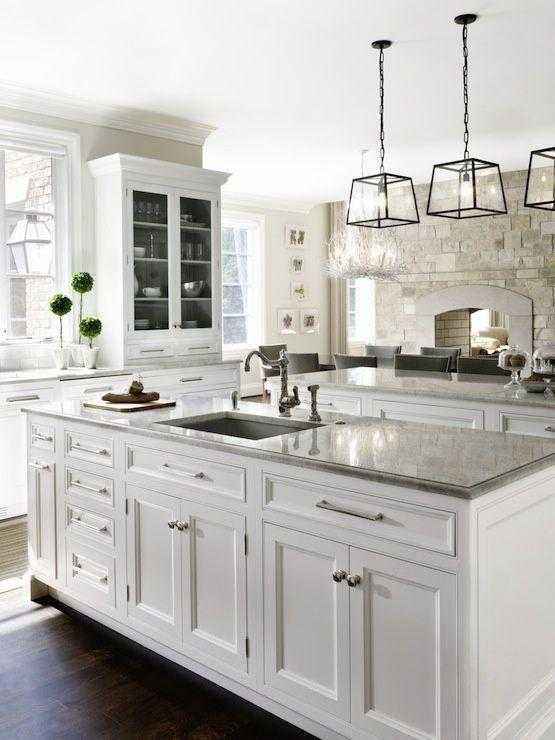 Modern traditional kitchen granite countertops - used on the island