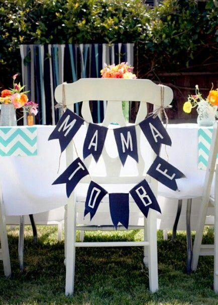 Outdoor shower party decor - for a boy party