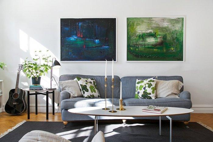 Scandinavian furniture - in a stylish and elegant living room
