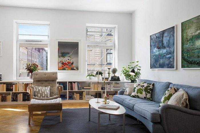 Pleasant Scandinavian Living Room With Blue Sofas Founterior Inzonedesignstudio Interior Chair Design Inzonedesignstudiocom