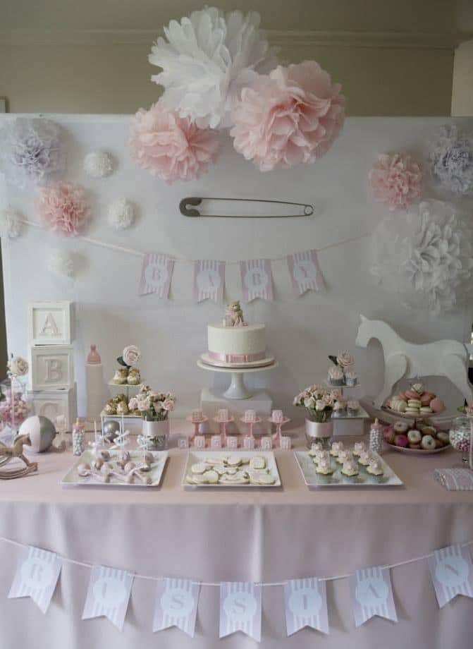 Shower party cakes and sweets - for a traditional celebration