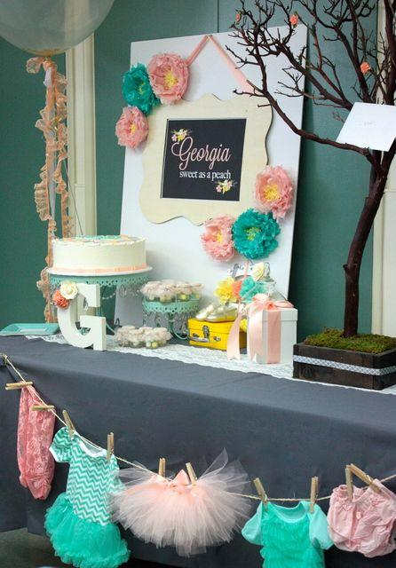 Shower party decor - with handmade garland