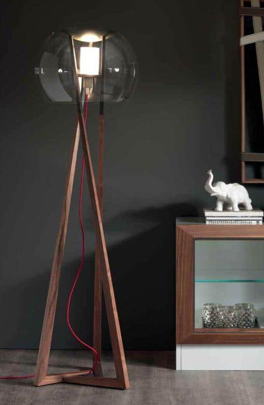Stylish Modern Floor Lamp   With Wood Body