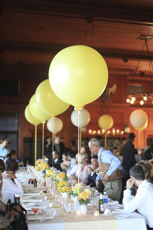 Yellow party balloons - for baby shower