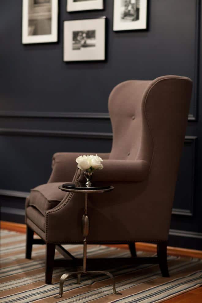 Brown living room armchair
