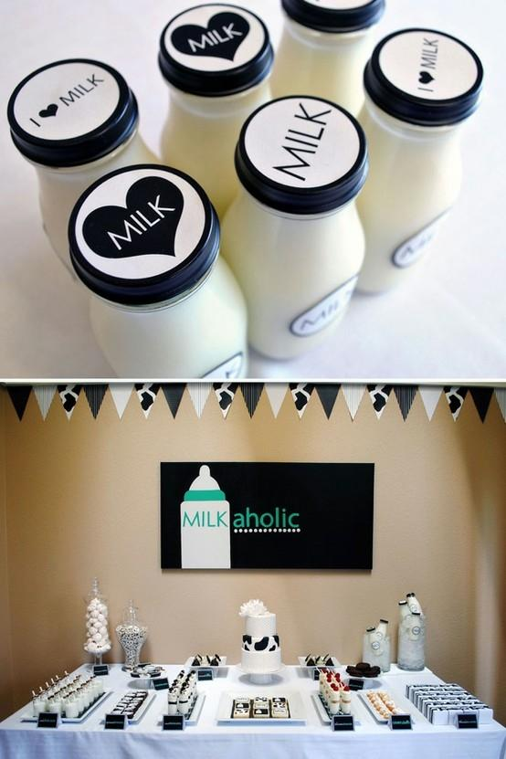 Baby mil bottles - for a shower party