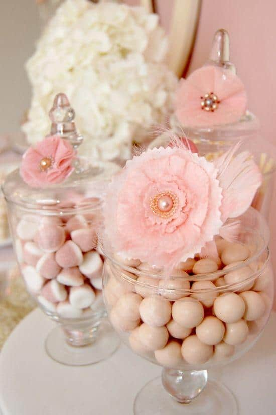 Baby party jars - full of sweets