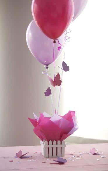 Baby shower ballons - in white and pink colors